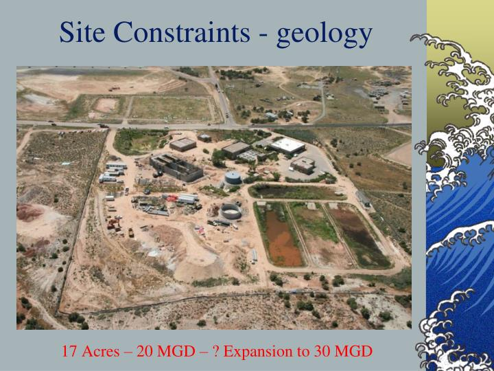 Site Constraints - geology
