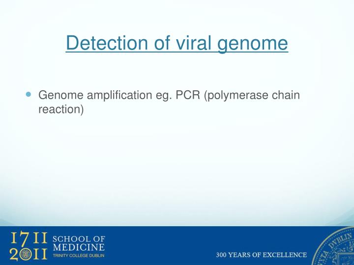 Detection of viral genome