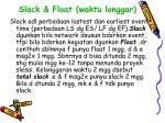 slack float waktu longgar
