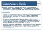 mhe work programme 2008 10 funded under progress dg employment