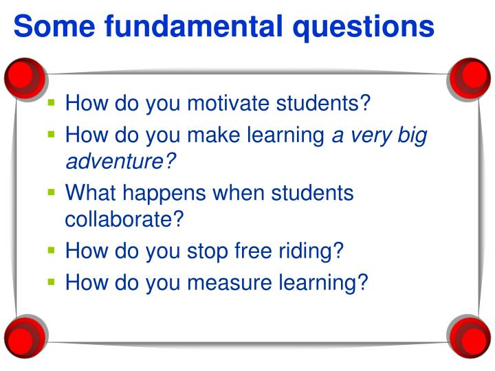 Some fundamental questions