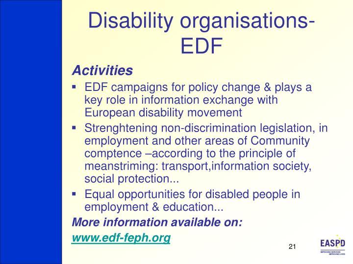 Disability organisations-EDF