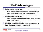 mef advantages1