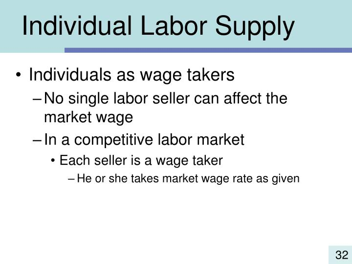 Individual Labor Supply