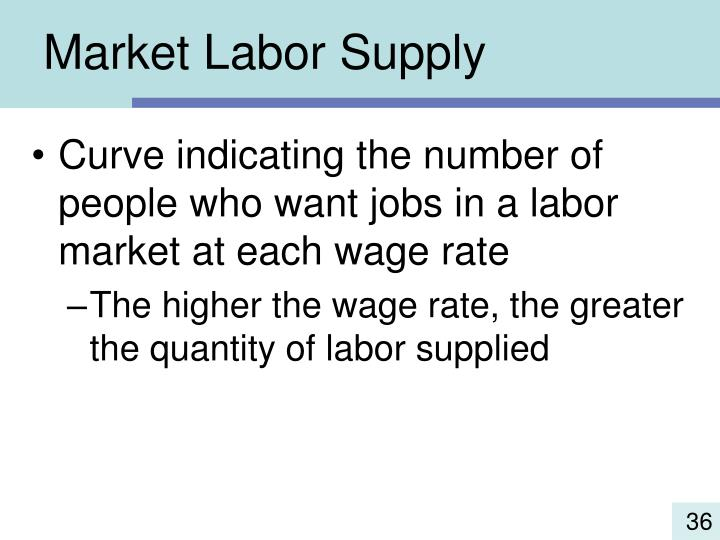 Market Labor Supply