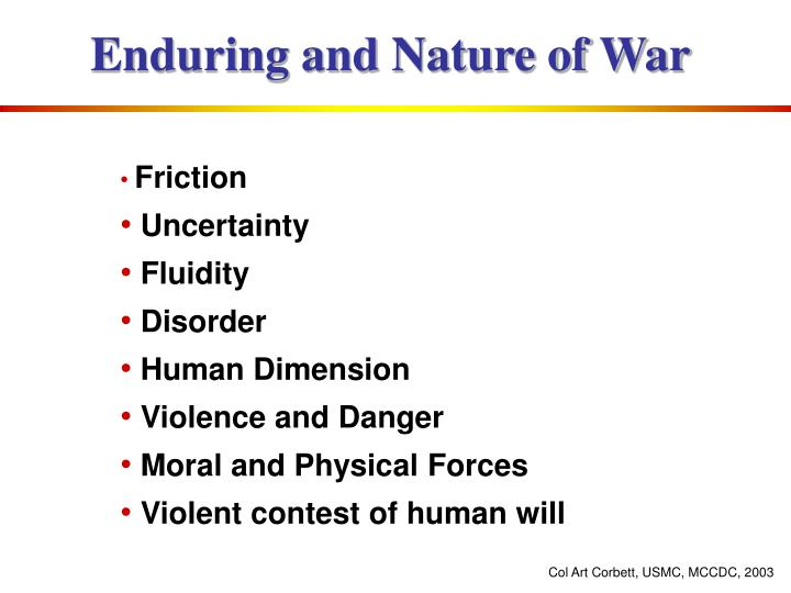 Enduring and Nature of War