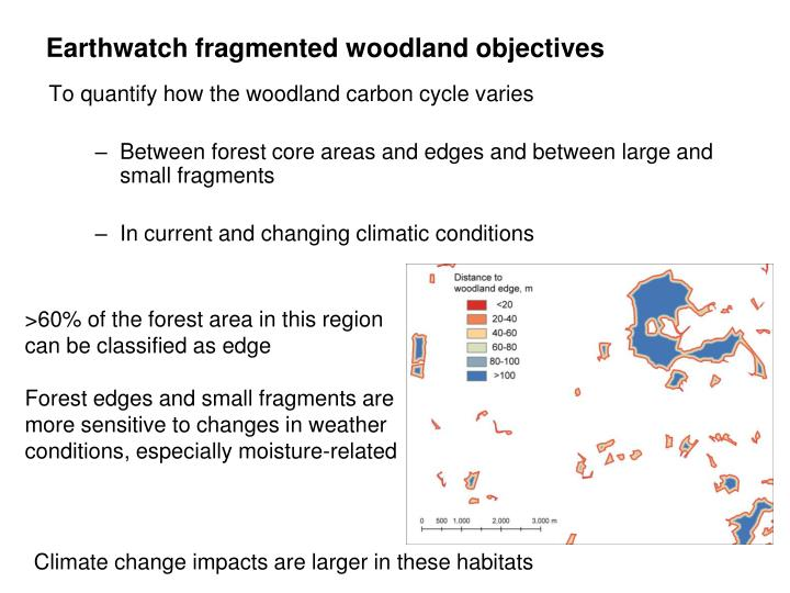 Earthwatch fragmented woodland objectives