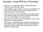 example using rfm for a promotion1