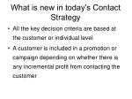 what is new in today s contact strategy