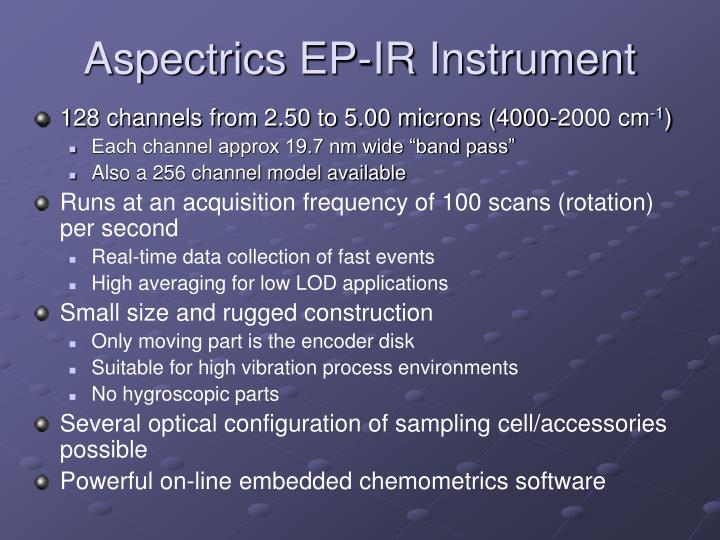 Aspectrics EP-IR Instrument