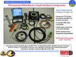 psi supplied pads block 2 flight hardware components