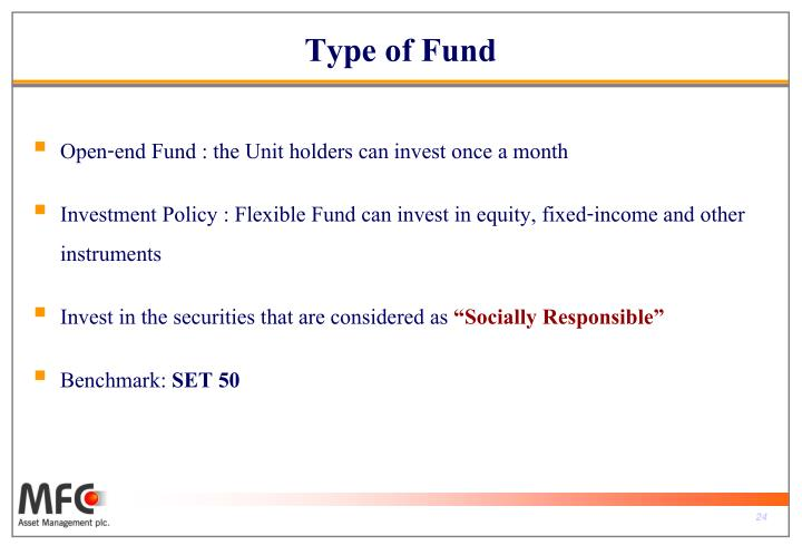 Type of Fund