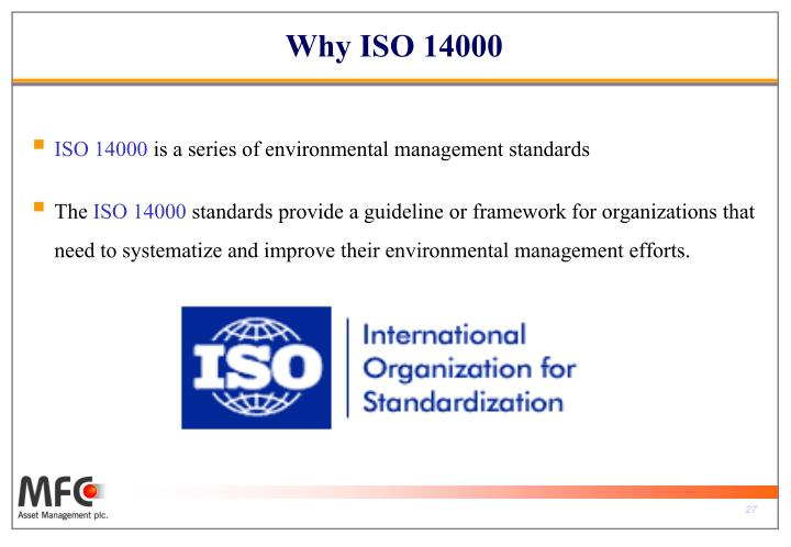 Why ISO 14000