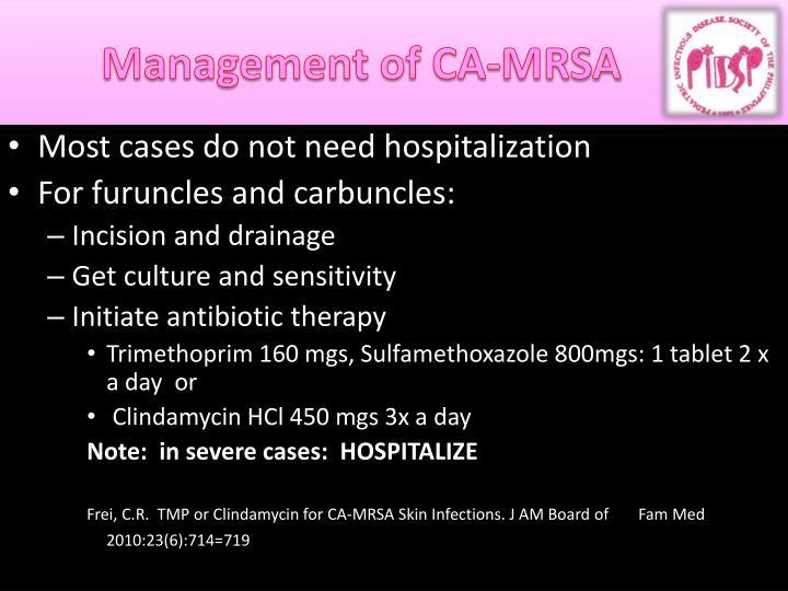 Management of CA-MRSA