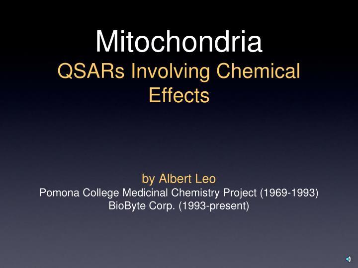 mitochondria qsars involving chemical effects n.