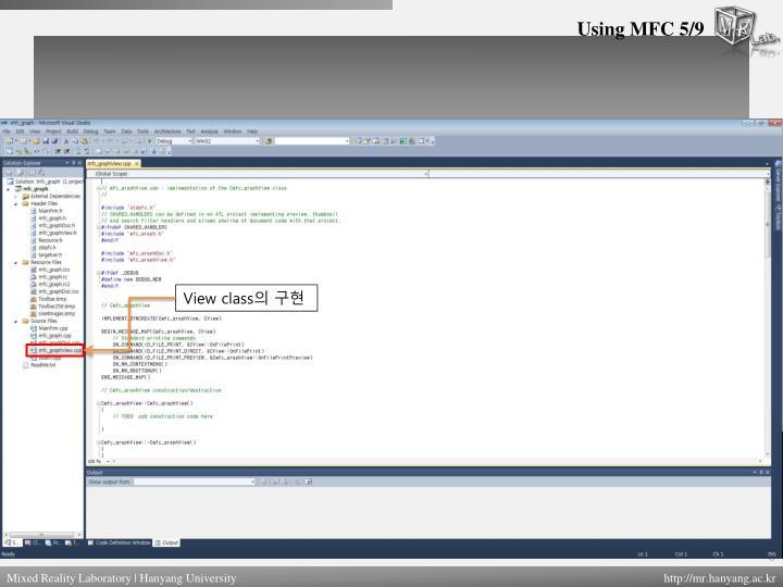 Using MFC 5/9