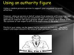 using an authority figure