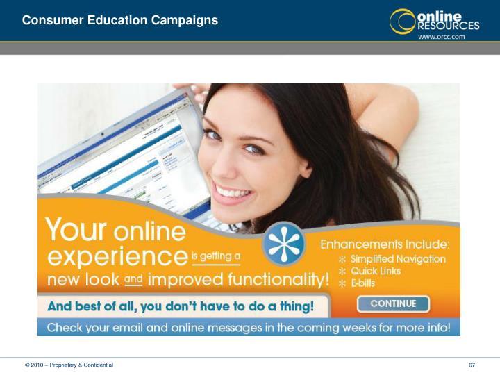Consumer Education Campaigns