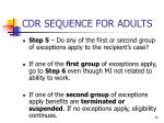 cdr sequence for adults4