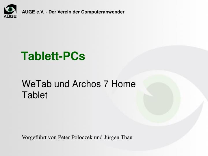 Wetab und archos 7 home tablet