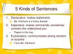 5 kinds of sentences