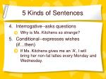 5 kinds of sentences1