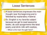 loose sentences