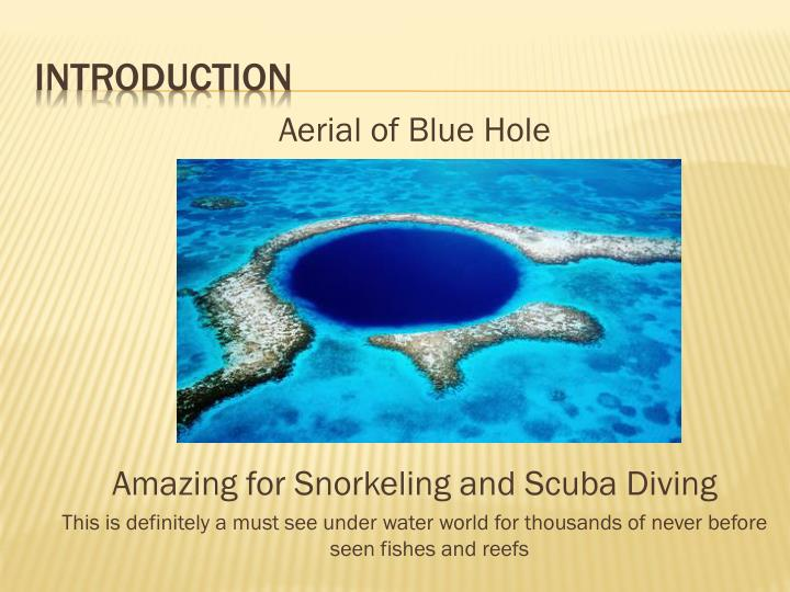 Aerial of Blue Hole