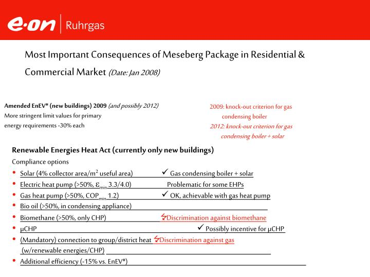 Most Important Consequences of Meseberg Package in Residential & Commercial Market