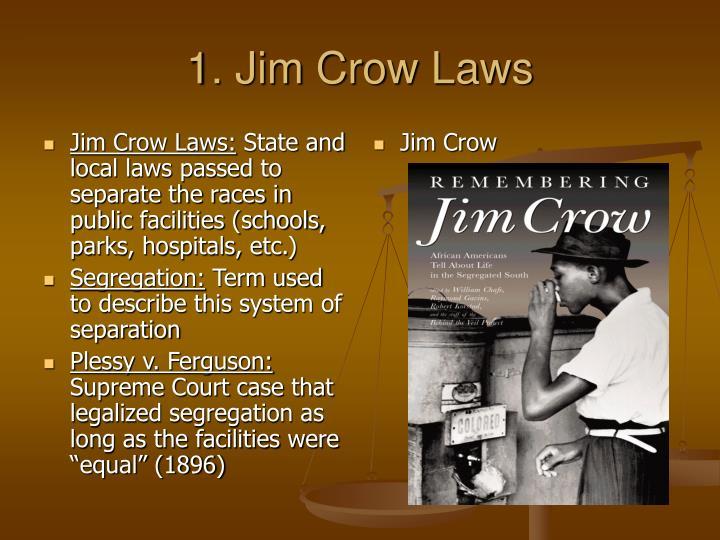 1 jim crow laws