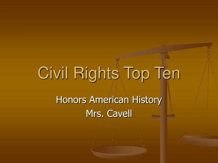 Civil rights top ten