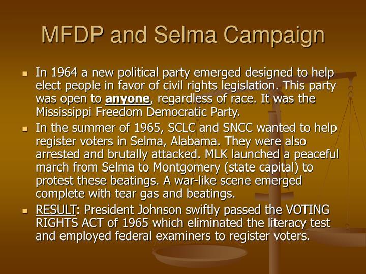MFDP and Selma Campaign