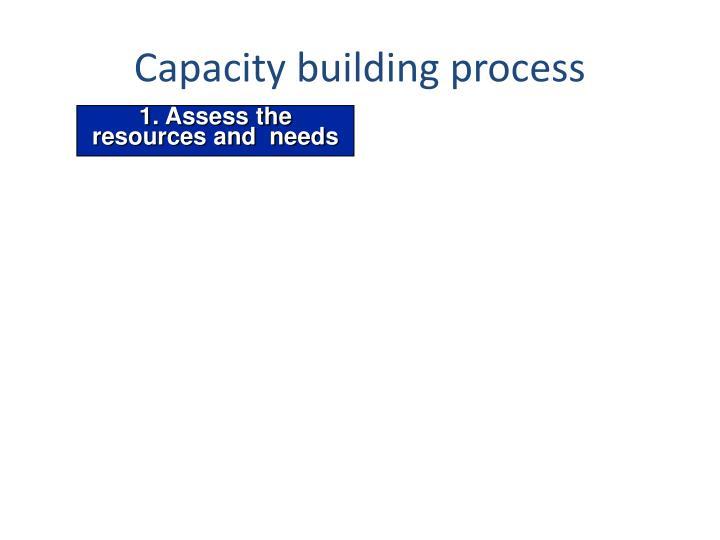 Capacity building process