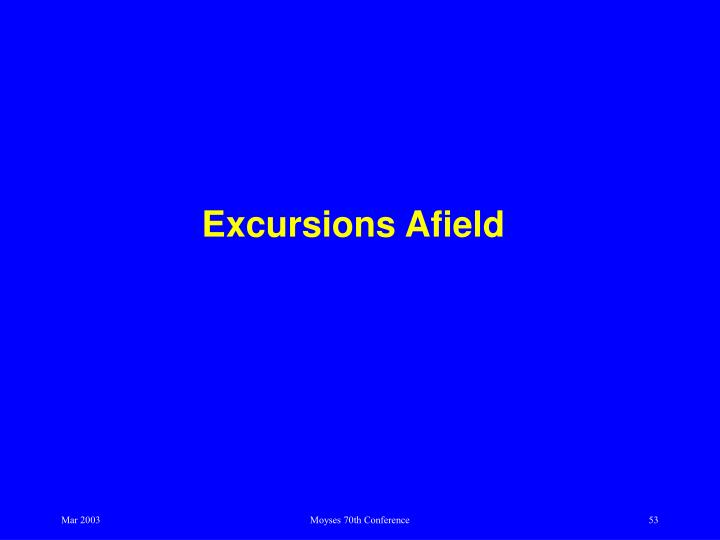 Excursions Afield
