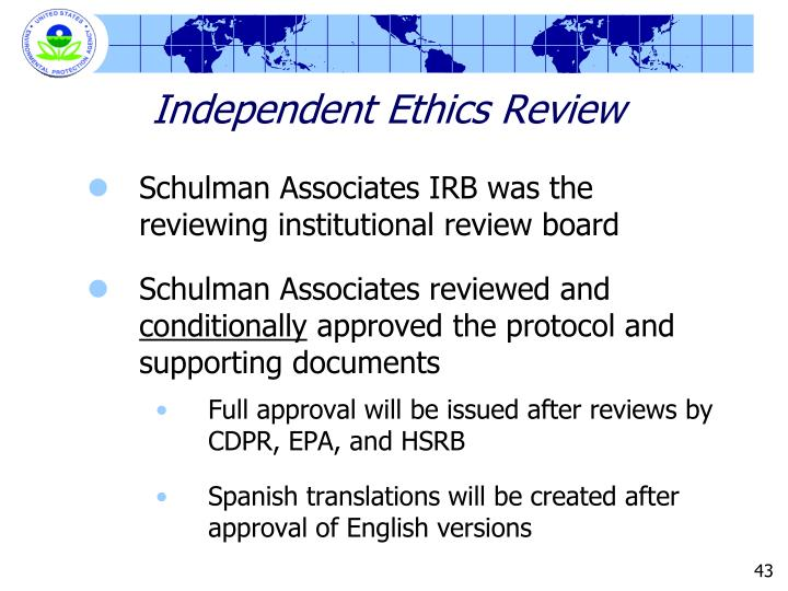 Independent Ethics Review