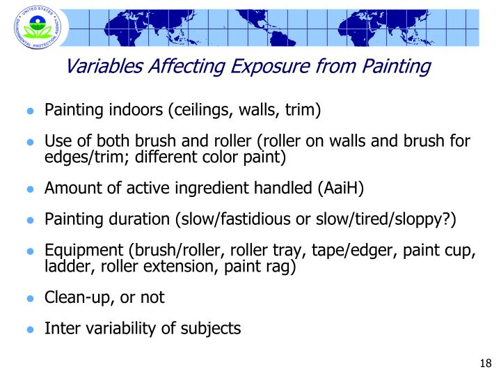 Variables Affecting Exposure from Painting