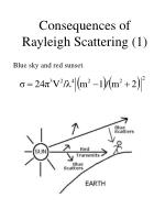 consequences of rayleigh scattering 1