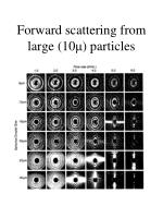 forward scattering from large 10 particles