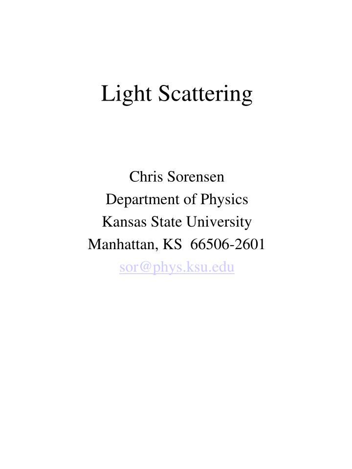 light scattering n.