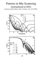 patterns in mie scattering normalized to i 0 sorensen and fischbach opt commun 173 145 2000