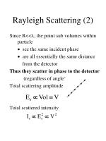 rayleigh scattering 2