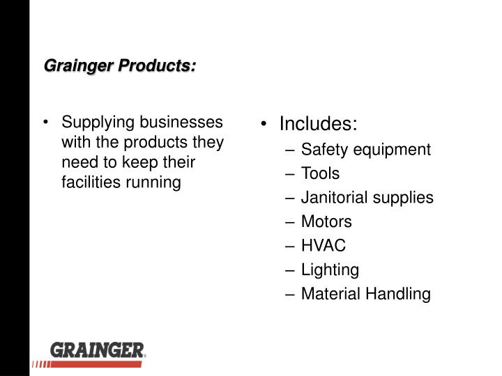 Supplying businesses with the products they need to keep their facilities running