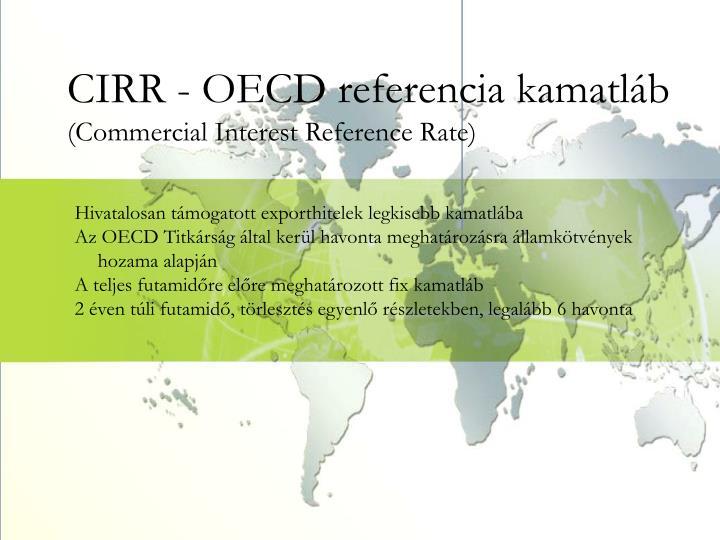 CIRR - OECD referencia kamatláb