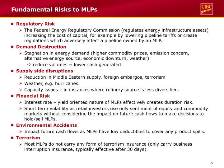 Fundamental Risks to MLPs