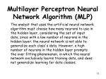 multilayer perceptron neural network algorithm mlp6
