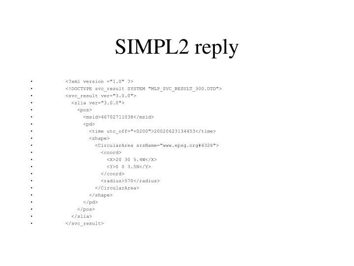 SIMPL2 reply