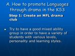 a how to promote languages through drama in the ks3