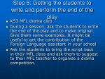 step 5 getting the students to write and perform the end of the play