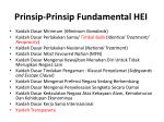 prinsip prinsip fundamental hei