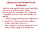 safeguards and escape clause lanjutan